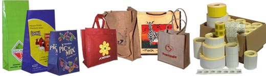Paper Carrier Bag, Jute Carrier Bags, Adhesive Labels