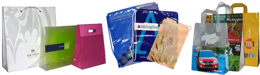 Gussetted Polythene Carrier Bags, Polythene Duffle and drawstring carrier  bags, flexiloop carrier bags
